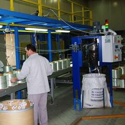 Recuperadora de filamento de fibra de vidro